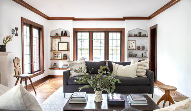 Transitional Living Room by Haus Love Interiors