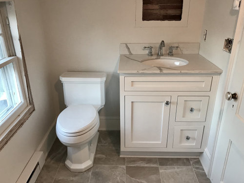 Toilet Paper Placement In Very Cramped Space