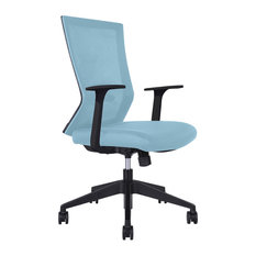 Unique   Ideal Blue Rolling Office Chair   Office Chairs