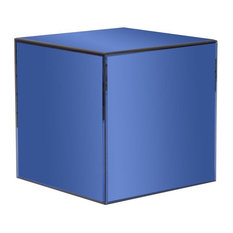 Cube Side End Tables Houzz - Mirrored cube end table