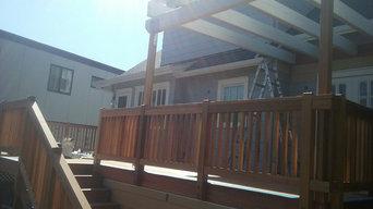 Brazilian hardwood and clear cedar deck and arbor