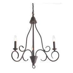 LNC 3-Light Rust Candle Chandeliers Transitional Chandelier Lighting Candle