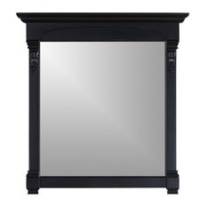 """James Martin Brookfield 39.5"""" Mirror, Antique Black"""