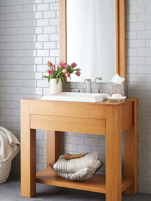 bamboo vanities and mirrors from native trails' renewal series, Bathroom decor