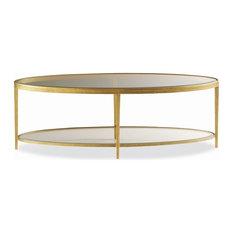 Hancock U0026 Moore   Hancock U0026 Moore Jinx Brass Oval Cocktail Table   Coffee  Tables
