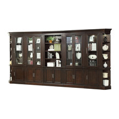 Stanford Library Bookcase Wall Light Vintage-Style Cherry 8-Piece Set