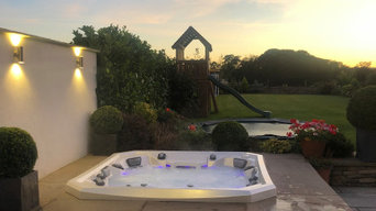 Marquis Spa hot tub  sunken  stone project, Barnsley.
