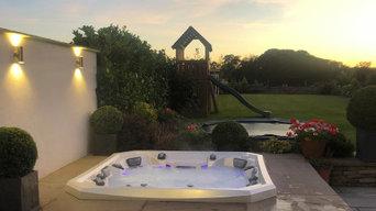 Marquis Spa hot tub  sunken  stone project, Barnsley.