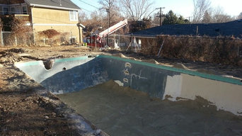 Fiberglass Pool fitted in old concrete pool