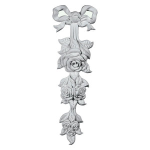 Small Rose Drop Onlay 3 1 8 W X 8 1 4 H X 1 P Traditional Onlays And Appliques By Ekena Millwork