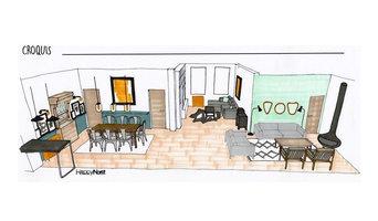 Décoration & Aménagement d'une pièce à vivre en lien avec un projet d'extension