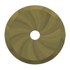"BPRK125U5 Base Plate For Knobs, 1-1/4"" Diameter, Antique Brass"