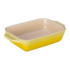 Le Creuset Soleil Yellow Stoneware Rectangular Baking Dish, 22 Ounce