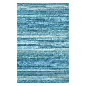 Classie Shag Rug Sky Blue Contemporary Area Rugs By