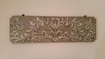 teste letto e lettini in legno decorati a mano