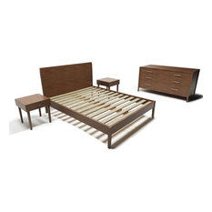 Pereida Rice Woodworking   Modern And Rustic 5 Piece Bedroom Set, King