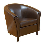 Newport Transitional Bonded Leather Club Chair
