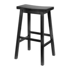 Pemberly Row 29-inch Bar Saddle Stool In Black