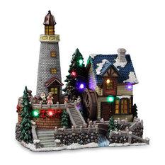 Christmas Lighthouse Village Figurine