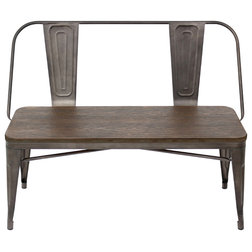 Industrial Dining Benches by HedgeApple