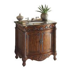 Chans Furniture 32 Traditional Style Fiesta Antique Bathroom Sink Vanity Bathroom Vanities And