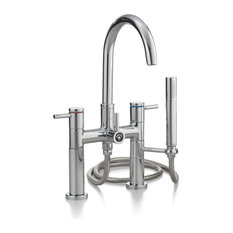 Cheviot Products Contemporary Deck-Mount Tub Filler, Chrome