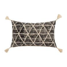 Nikki Chu by Jaipur Living Black/Cream Pillow, Poly Fill