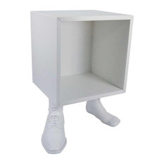 Cube With Shoe Bedside Table