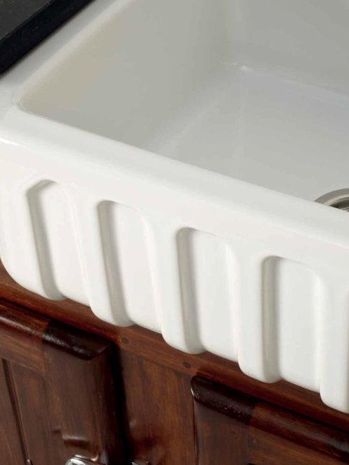 Grifos Retro De Acero Y Fregaderos Porcelana - Fregaderos-de-porcelana-para-cocina