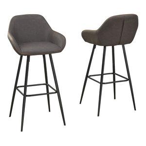 Excellent Lumisource Clubhouse Counter Stool Set Of 2 Midcentury Inzonedesignstudio Interior Chair Design Inzonedesignstudiocom