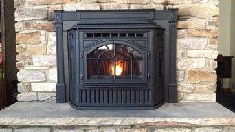 Pandolfo residence Quadra-Fire pellet insert