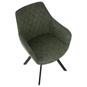 Marvelous Ruth Dining Chair Green Set Of 2 Industrial Dining Bralicious Painted Fabric Chair Ideas Braliciousco