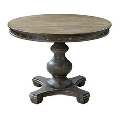 """Solid Pine 42"""" Distressed Round Table"""