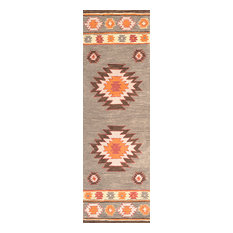 "Bronco Hand-Tufted Area Rug, Gray, 2'6""x12' Runner"