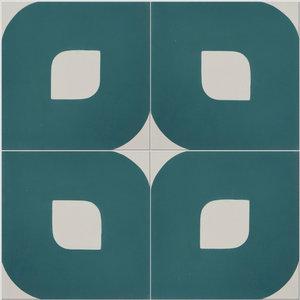 Eye Pattern Tiles, Teal, Set of 12