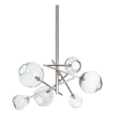 Regina Andrew Design Molten Chandelier, Clear Glass
