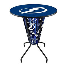 Lighted Tampa Bay Lightning Pub Table by Holland Bar Stool Company