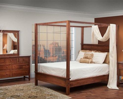 & Modern Canopy Bedroom Set