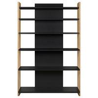 Niko Modern Stepped Bookshelf 2 Tone, Oak/Black