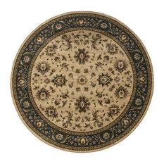 "Oriental Weavers Sphinx Ariana 311z3 Rug, Ivory/Blue, 8'0""x8'0"" Round"