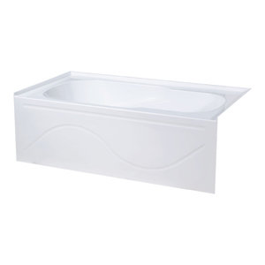 """Alcove Soaking Bathtub With Apron Skirt, 60""""x30"""", Left Hand, 60""""x30"""", Right Hand"""
