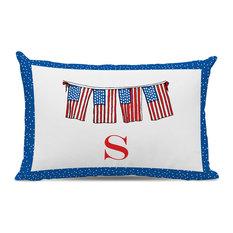 Lumbar Pillow Flags Single Initial, Letter B