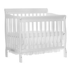 dom family dream on me aden convertible 4in1 mini crib - White Baby Crib
