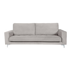 Allen Adjustable Headrest Sofa, Bone, 3-Seater