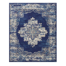 Nourison Grafix Area Rug Navy Blue 7 10 X9