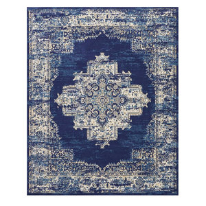 "Nourison Grafix Area Rug, Navy Blue, 7'10""x9'10"""