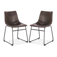 Edgemod Brinley Dining Chair, Set of 2, Brown