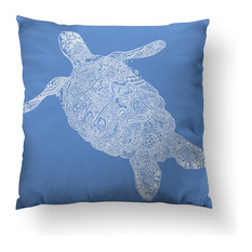 "Elegant Turtle Throw Pillow, 20""x20"", Pillow Cover Only"