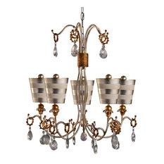 Funky chandeliers houzz flambeau lighting tivoli 5 arm chandelier silver chandeliers aloadofball Choice Image