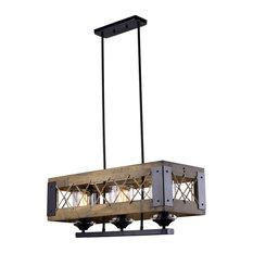 lnc 3light baxter wood chandelier kitchen island lighting